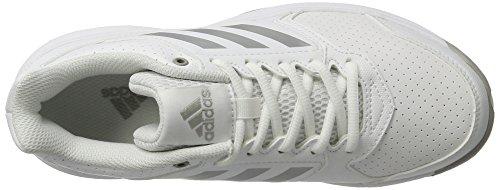adidas Adizero Attack, Zapatillas de Tenis para Mujer Blanco (Ftwr Whitesilver Metallicmgh Solid Grey)