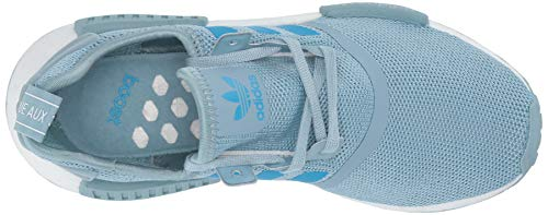 adidas Originals Unisex NMD_R1 Running Shoe ash Grey/Shock Cyan/White 4 M US Big Kid by adidas Originals (Image #8)