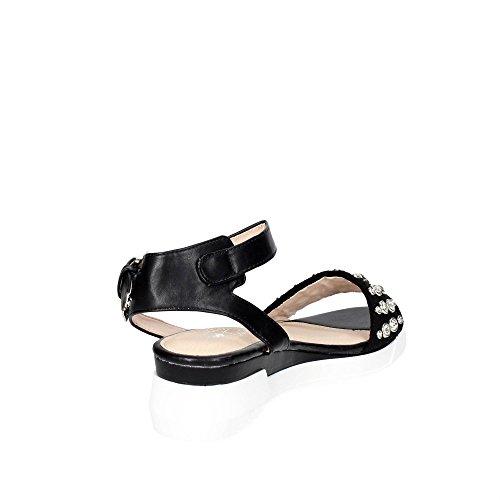 Braccialini B112-1 Sandale Femme Noir KjhTEN53Uv