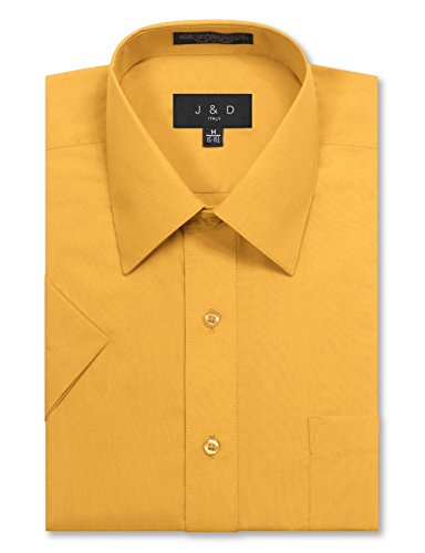 Dwight Office Halloween (JD Apparel Men's Regular Fit Short Sleeve Dress Shirts 15-15.5N Medium)
