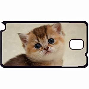 New Style Customized Back Cover Case For Samsung Galaxy Note 3 Hardshell Case, Back Cover Design Kitten Personalized Unique Case For Samsung Note 3