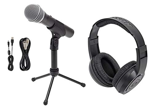 (Samson Q2U Dynamic USB Handheld Microphone For Recording and Podcast Podcasting)