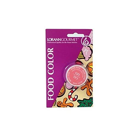 Amazon.com: Lorann Oils Gel Food Coloring, 1/2-Ounce, Rose Pink ...