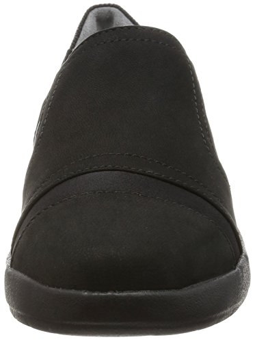 Rockport Damen Devona Demsa Slip On Slipper Schwarz (Black Nubuck)