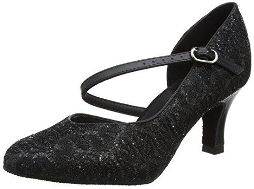Black Danca Bl504 Shoes Dance Black Ballroom Sparkle Women's So TB1Szw