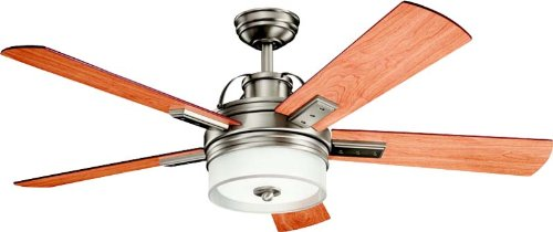 Kichler 300181AP 52-Inch Lacey Ceiling Fan, Antique Pewter