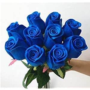 jiumengya 10pcs Real Touch Rose Simulated Fake Latex Roses 43cm for Wedding Party Artificial Decorative Flowers 88