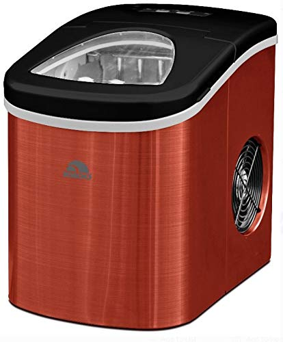 Igloo ICE117-SSRED Ice Maker Red Stainless Steel - Produces 26 lbs. of ice per day