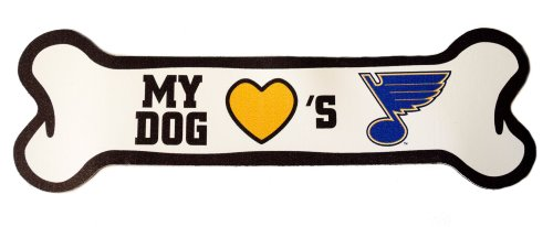 st-louis-blues-licensed-dog-bone-car-magnet