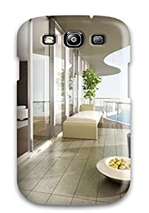 Fashion Protective Amazing House Beach Plan Case Cover For Galaxy S3