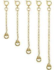 5 Piezas Extensor de Collar Set de Cadena de Extensión de Pulsera para Manualidades de Collar y Pulsera Fabricación de Bisutería