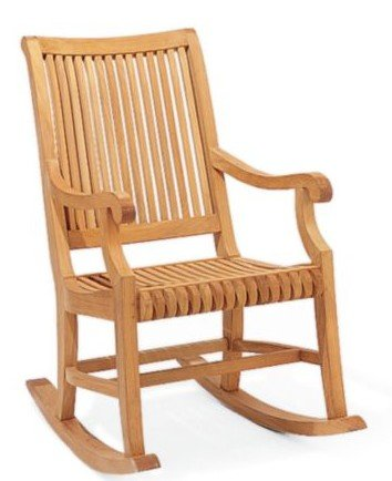 New Grade A Teak Rocker / Rocking Arm Chair (Cushion not included) #WHRKGV ()