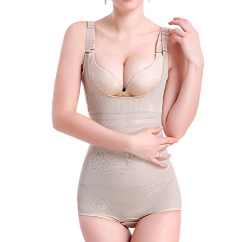 OLIKEME Women's Ultra Thin Adjustable Tummy Control Seamless Firm Control Body Shapewear by (XXX-Large, Flesh Color)