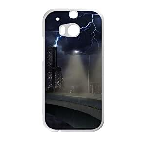 Personalized Creative Cell Phone Case For HTC M8,lightning night