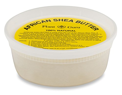 Raw African Shea Butter 8 oz Unrefined Grade A 100% Pure Natural Ivory/White From Ghana DIY Crafts, Body, Lotion, Cream, lip Balm, Soap Making, Eczema, Psoriasis And Aid Stretch Marks ()