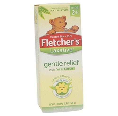 Fletcher's Laxative, For Kids, Root Beer, 3.25 oz. Per Bottle (5 Bottles)