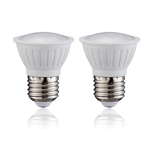(Pack of 2) PAR16 LED Dimmable Flood Light Bulbs 3Watt E26 Short Neck 120V AC 30W Halogen Replacement 120 Degree Beam Angle, Soft White 3000K