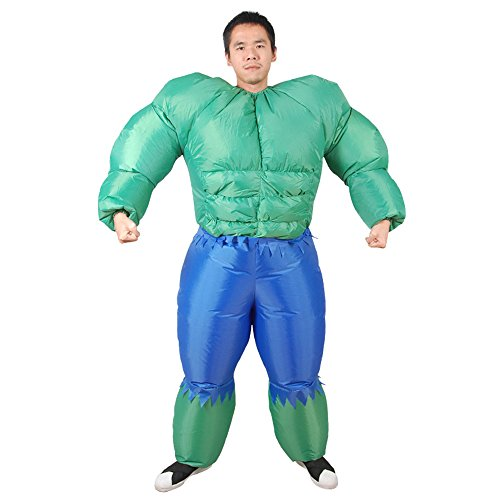 SHUISHOU Adult Men's Muscle Hulk Halloween Inflatable Costume ()