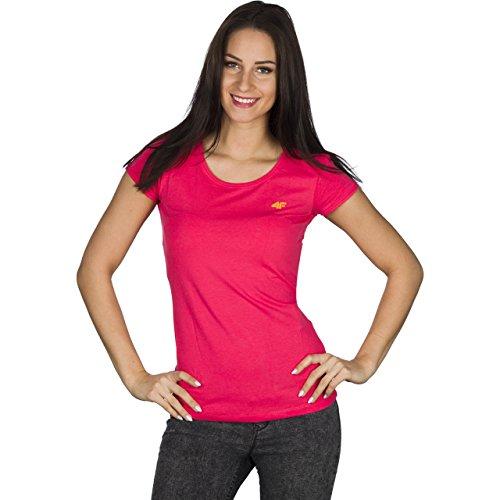 Dri Sports Womens Fitness F Gym manga Active 4 Top fit camiseta Pink corta IR0vRx