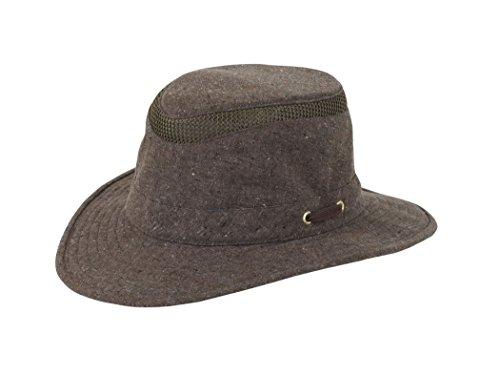 Tilley Endurables TMH55 Mash-Up Airflo Intermediate Brim Brown Unisex Hat, 7 1/8 ()