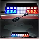 Benjoy 9 Led Red, Blue And White Police Flasher Light For Toyota Fortuner