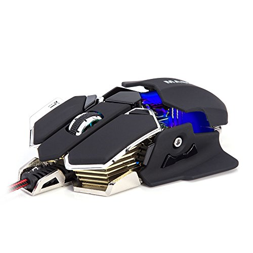 Masione® USB 4800DPI 10 Button LED Optical Gaming Mouse for