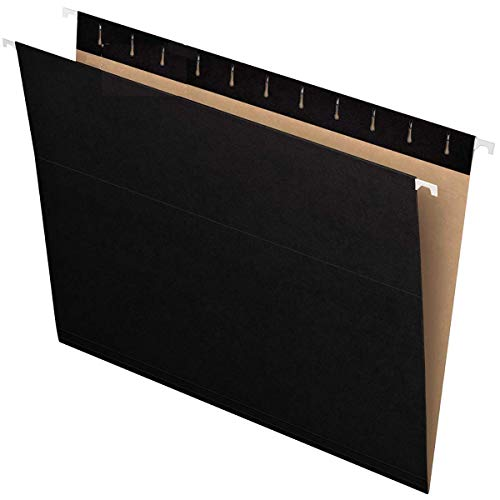 Hanging File Folders - Pack of 10 - A4 - Assorted Colors - Recycled Black - Paper Bills Organizer