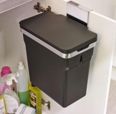 Simplehuman Abfalleimer f Küchenschrank,10 L schwarz, Befestigung, 30x18,5x31cm