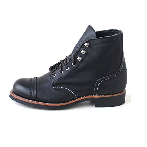 Ranger Leather Boots 3366 Black Red Iron Wing Womens tqpwYTz