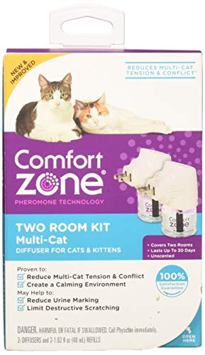 Comfort Zone MultiCat Diffuser for Cats Kittens (2Pack)