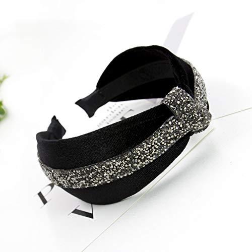 1Pc Boutique Diamond Gold Velvet knot hairband women girl hair head hoop band headband accessories for women headdress - Lulu Boutique Baby Dress