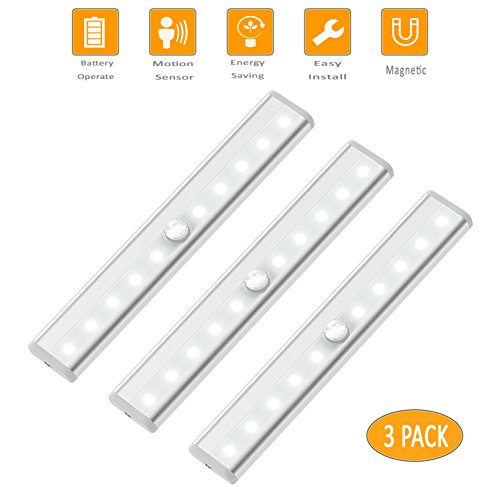 Motion Sensor Closet Light Under Cabinet Lighting Battery Operated Wireless Night Light Bar