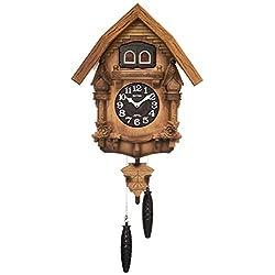 Rhythm (rhythm clock) [ Earnest Bellows Type Cuckoo Clock Cuckoo ] Therese R ' Japan Assembly ' Wood Frame/Dark Brown Blur Wooden Base Finish 4MJ236RH06