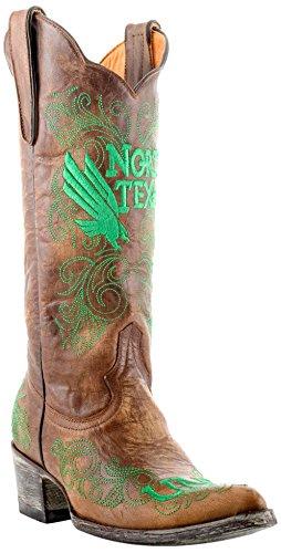 Gameday Stiefel NCAA North Texas Mean Grün Woherren 13-Inch, Brass