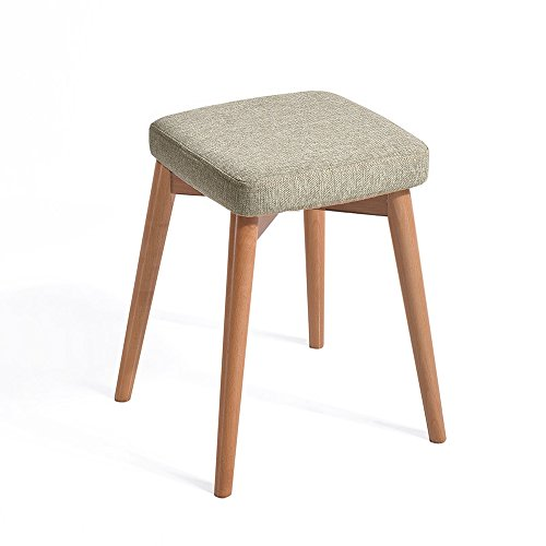 XRXY Solid Wood Creative Footstool / Bedroom Makeup Stool / Living Room Sofa Stool / Household Small Bench/ Changing Shoes Stool ( Color : A ) by ZAYJD