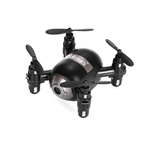 Leewa@ GTeng T906W-1 NANO Quadcopter BNF With Altitude Hold 0.3MP WiFi FPV Track Flying -Black (Without Remote Controller) by Leewa