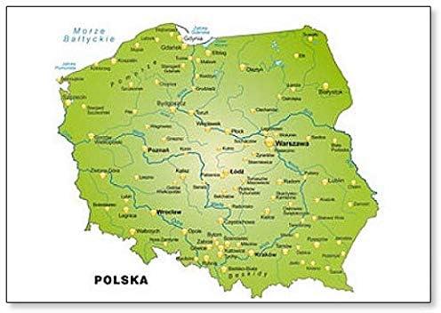 Amazon Com Karte Von Polen Classic Fridge Magnet Kitchen Dining