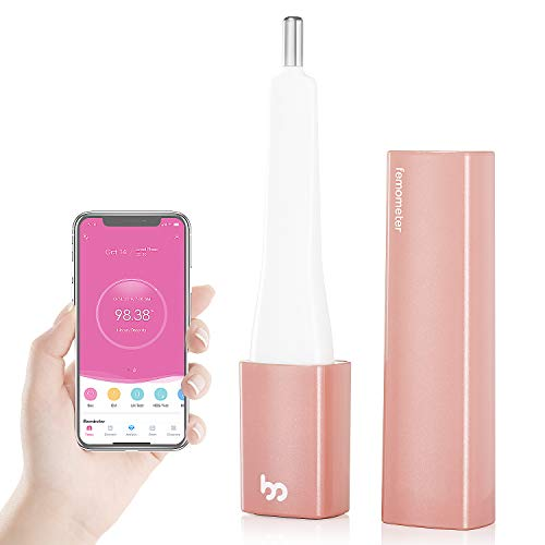 Femometer Vinca Basal Thermometer for Ovulation, Intelligent Quiet BBT Thermometer with Bluetooth for NFP, Fertility Monitor&Period Tracker with APP(iOS & Android), Automatically Drawing BBT Curve