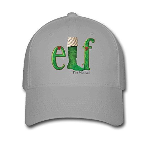 Woman Men Cotton Elf Musical Foot logo Adjustable hats Baseball caps Gray