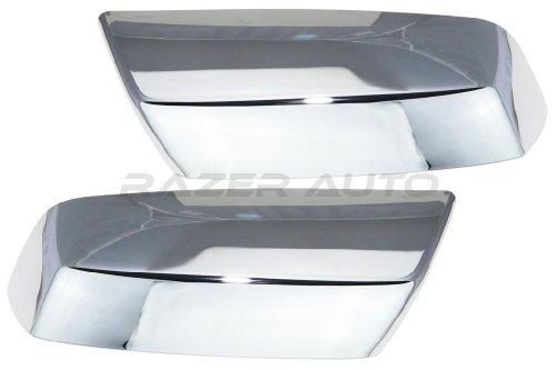 Razer Auto Chrome Top Half Mirror Cover for 2014-2015 Chevy Silverado 1500/2015 Chevy Silverado 2500 & 3500/2014-2015 GMC Sierra 1500/2015 GMC Sierra 2500 & 3500