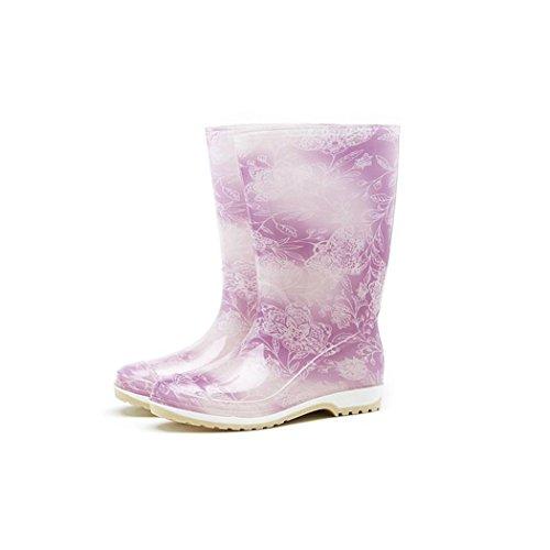 Hoter Nyeste Fasjonable Stilig Glitter Uformell Ungdom Regn Sko Skidproof / Vanntett Regnfull Dag / Hage Arbeid / Friluftsliv Purpleflower