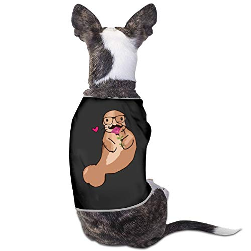 Love Studious Manatee with Glasses Small Dog Cat Vest Pet Sleeveless Tops Jacket Sweater]()