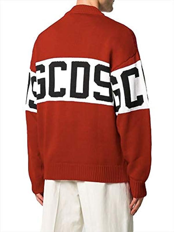 GCDS Luxury Fashion Męskie CC94M02115003 Rot Wolle Sweater   Herbst Winter 20: GCDS: Odzież