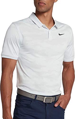 NIKE Zonal Cooling Camo Golf Polo 2018 White/Pure Platinum/Black (Platinum Golf Shirt)