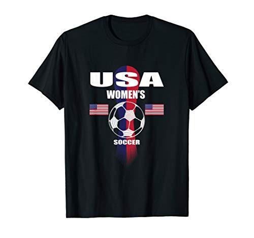 Women Soccer Team T-Shirt USA United States Soccer Fan - Soccer States T-shirt United