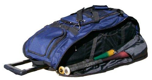 Solid Navy Blue Cobra RTS Softball Baseball Bat Equipment Roller Bag by MAXOPS