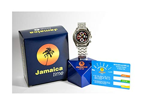 Jamaica Time av Pryngeps Gallery Svart & Röd Sport Chrono Klocka J2088