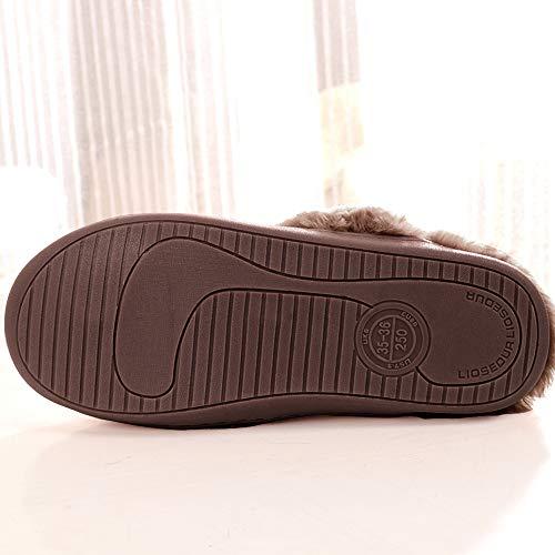 Slip Clog House Slipper Shoes Memory Plush Coffee amp; Lining on Men's Foam Outdoor Indoor Fleece CHw0zxnxFq
