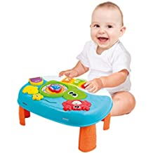 Activity Table for 1 Year Old and Up. 2-in-1 Baby Activity Center. Interactive Learning Toy Piano with Fun Ocean Characters for Toddlers and Kids