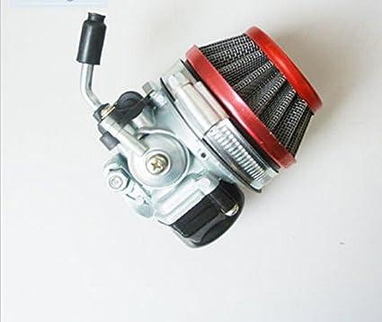 Signswise Racing Carburetor for 2 Stroke Engine Motorized Bicycle ATV Quad  49cc 66cc 70cc 80cc Red